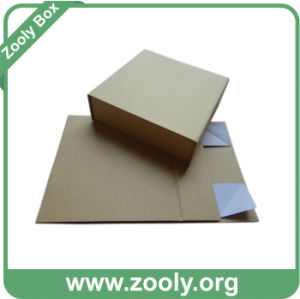 Eco-Friendly Natural Brown Kraft Paper Folding Gift Box pictures & photos