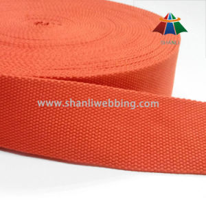 "2"" Inch Orange Polyester Cotton Webbing for Garment Accessories"
