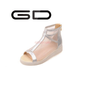 7d3865b88 China New Design Transparency Job Sandals Simple Ladies Fancy Flat ...