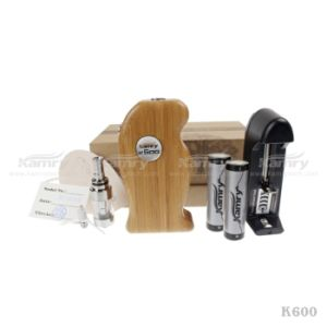 New Hookah E Cig From Natural Wood, K600 Mod Brown Color Healthy Vape Popular in Us