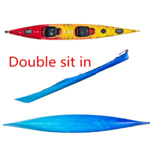 New Double Whitewater Kayak with Rudder