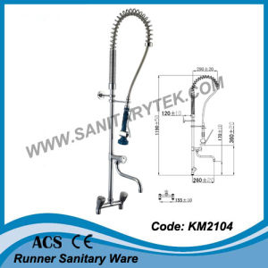 Commercial Pre-Rinse Kitchen Faucet Tap (KM2101) pictures & photos