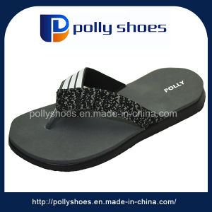 Rubber Beach Flip Flops Men Indoor Black Flip Flops pictures & photos