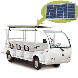 11+3seat Electric Sightseeing Bus with Solar Panel pictures & photos