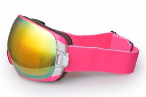Pink Frameless Ski Eyewear Women Snow Goggles UV Protection pictures & photos