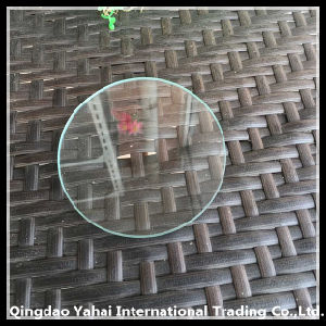 4mm Round Clear Float Glass with Rough Grinding pictures & photos