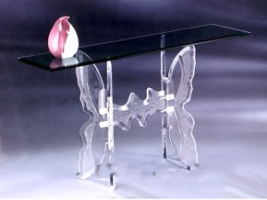 Crystal Lucite Dining Table Glass Leisure Table