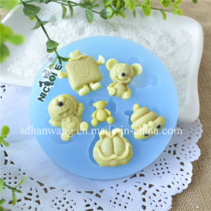 Cartoon Animal Shape Handmade Candy Chocolate Fondant Silicon Moulds