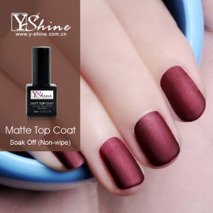 Nail Gel Polish Matt Matte Top Coat Easy Soak Off Nail Gel