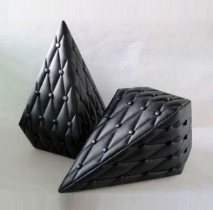 Black Leather Diamond-Shaped Perfume Box pictures & photos