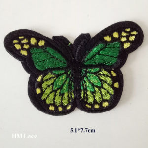 Iron on Patches for Clothing Appliques Badge Stickers for Clothes Multicolor Butterfly Embroidery Patch pictures & photos