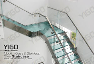 Glass Straight Staircase (YG9004-12)