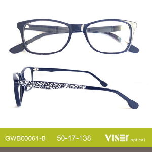 Wholesale New Fashion Acetate Handmade Eyeglass Frames pictures & photos