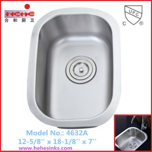 Stainless Steel Commercial Sink with Under Mount Installation, Bar Sink (4632) pictures & photos