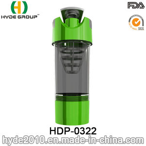 2017 Portable BPA Free Plastic Powder Protein Shaker Bottle, Customized PP Plastic Shaker Bottle (HDP-0322) pictures & photos