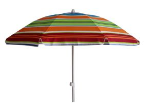 Stripe Beach Umbrella, Polyester with Sliver, and Waterproof, with Tilt