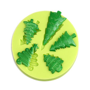 high quality best selling christmas trees silicone cake decoration moulds