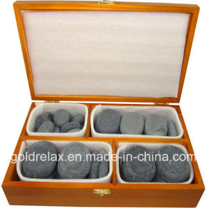 36PCS Hot Stone Massage (unpolished stone, nature stone)