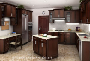 Popular Solid Wood Kitchen Cabinet (W007)