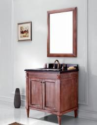 Wooden One Main Cabinet Mirrored Modern Bathroom Cabinet (JN-8819715A)