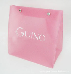 Hot Sale Charming PVC Cosmsmetic Bag with Button