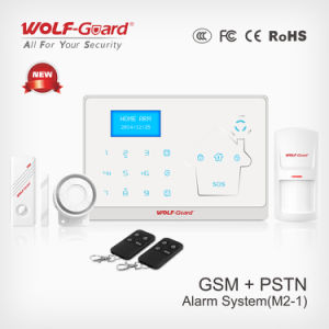 GSM and PSTN Intelligent Home Security Wireless Fire Burglar Alarm with Menu and APP pictures & photos