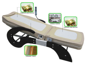 Thermal Jade Roller Carbon Fiber Far Infrared Ray Massage Bed pictures & photos