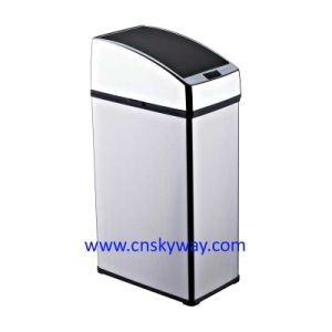 China Sensor No Touch Trash Can 4l Motion Garbage Rubbish Bin Stainless Steel Kitchen