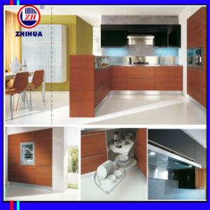 High Glossy UV Wooden Kitchen Cabinet (ZH2879) pictures & photos