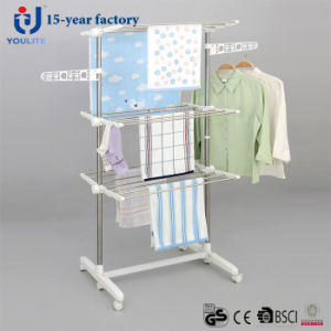 Stainless Steel Three Layer Coat Drying Rack pictures & photos