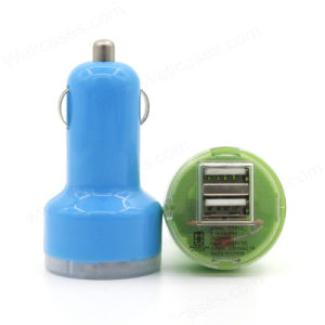 Colorful 2 Ports Mobile Phone USB Adapter Car Charger