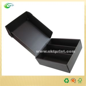 Black Cardboard Box for Wine with Lid (CKT-CB-360)