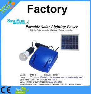 Portable Solar Lighting Power System (SP12-3) pictures & photos