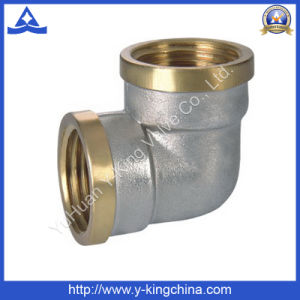 Nickel Plated Brass Female 90 Deg Brass Elbow (YD-6029) pictures & photos