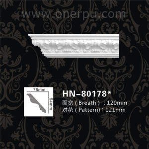 Indoor And Outdoor Decorative Panels Pu Cornice Moulding Hn 80178