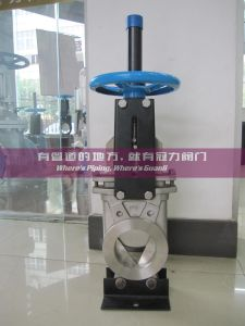 CF8 Knife Gate Valve with Ss304 V Port Deflection Cone pictures & photos