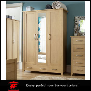 China High Gloss Mirror Bedroom Wooden Almirah Designs ...