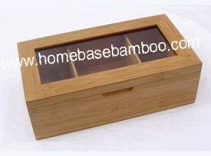 Bamboo Tea Box Organizer Storage Hb303 pictures & photos