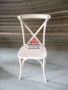 Hot Sale Wooden Cross Back Chair for Wedding pictures & photos