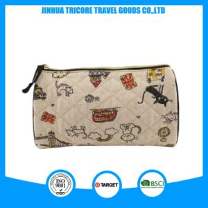 New Design China Wholesale Desiner Quilted Cotton Printed Cat Cosmetic Bag pictures & photos