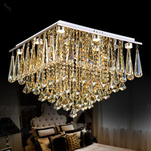 Modern Luxury Large LED Crystal Rectangle Crystal Chandelier Lustre De  Crystal Ceiling Lamp Restaurant Home Decorative