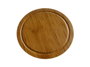 Bamboo Round Cutting Board with Handle (JD-KC019)