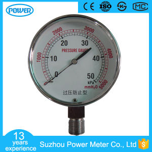 OEM 50kpa Stainless Steel 80mm Bellows Capsule Pressure Gauge pictures & photos