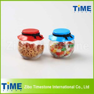 265ml Food Candy Glass Storage Jar with Plastic Lid pictures & photos