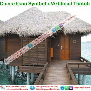 Tropical Island Style Artificial Synthetic Thatch Tiki Bar Hut Cottage Water Bungalow Beach Umbrella pictures & photos