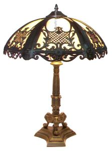 Antique Style Victorian Stained Bent Glass Table Lamp Stained Glass Desk  Light Decorative Lamp Interior Home