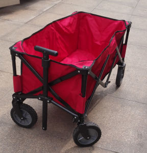 Folding Utility Wagon Garden Cart with Steel Frame