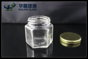 Huajing High Quality Small 138ml Hexagonal Glass Mason Jar