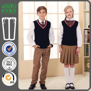2016 Beautifl Sweat Vest Band Primary School Uniform Designs pictures & photos