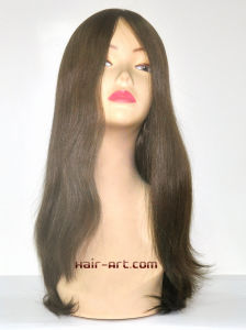 100% Human Hair Top Hand Injected Sheitels Kosher Wigs-22""